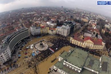 Протест срещу монополите в София от въздуха