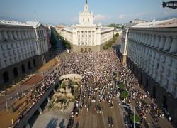 Протести 2013 заснети от въздуха