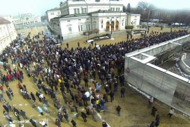 Протест срещу монополите  и цените на тока в София