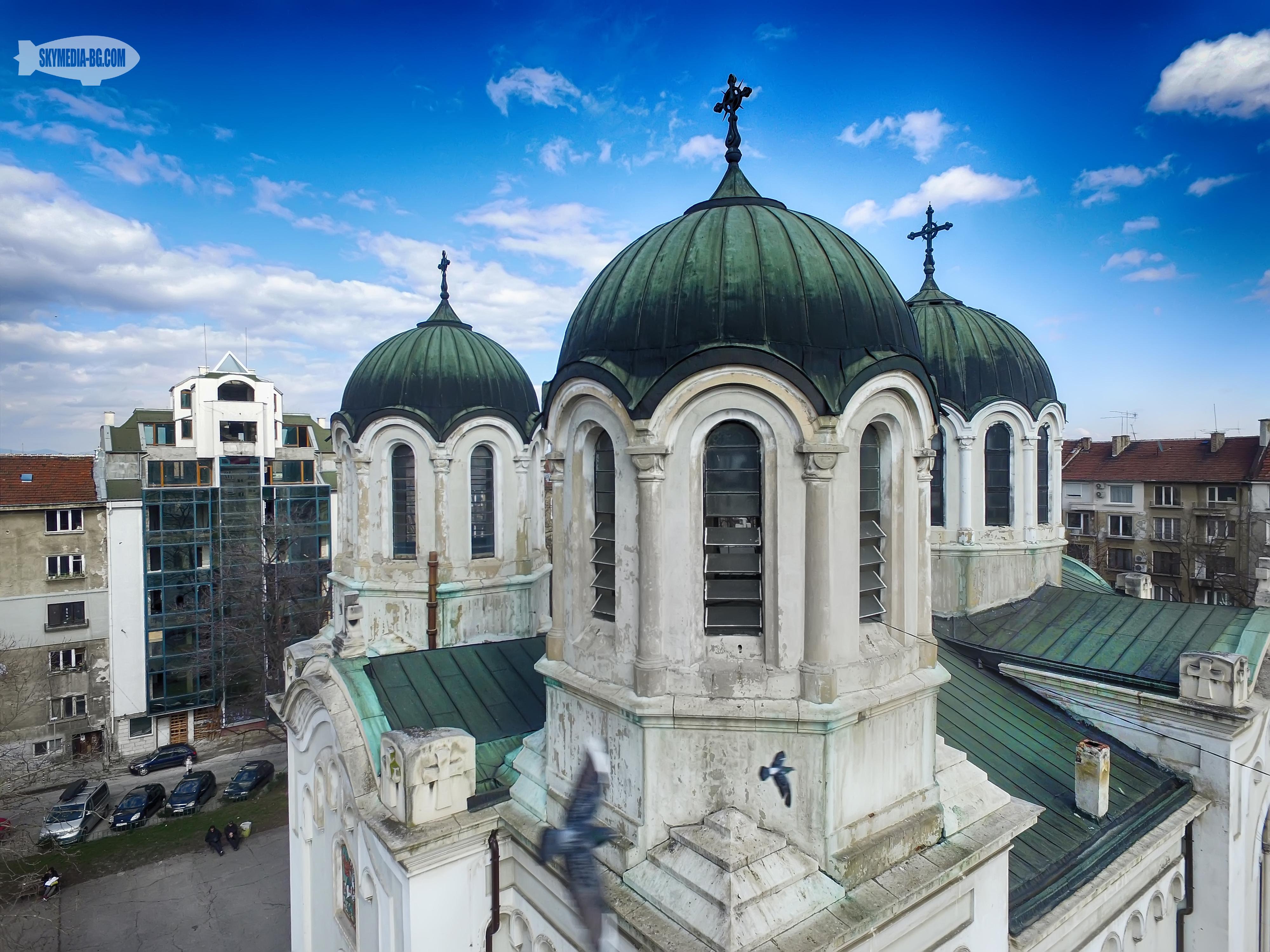 """Църквата """"Свети Георги"""" на бул. """"Патриарх Евтимий"""" от началото на 20ти век"""