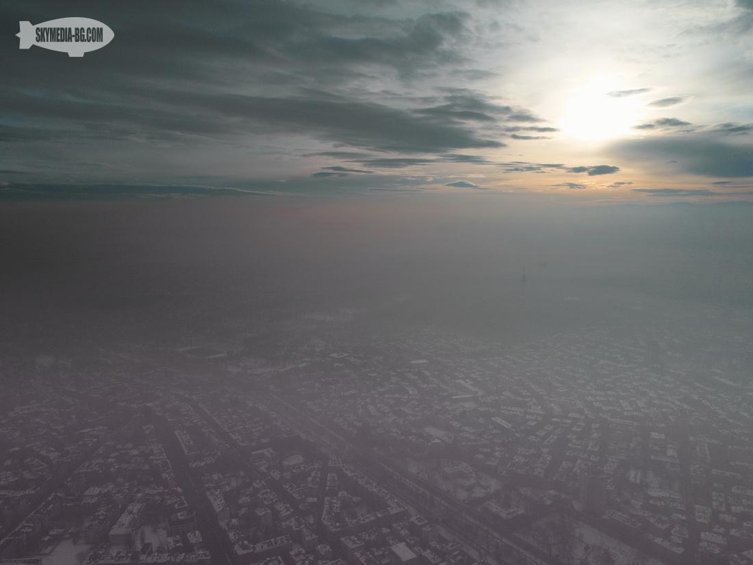 Тежък смог над София