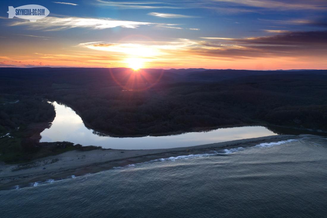 река Велека на залез