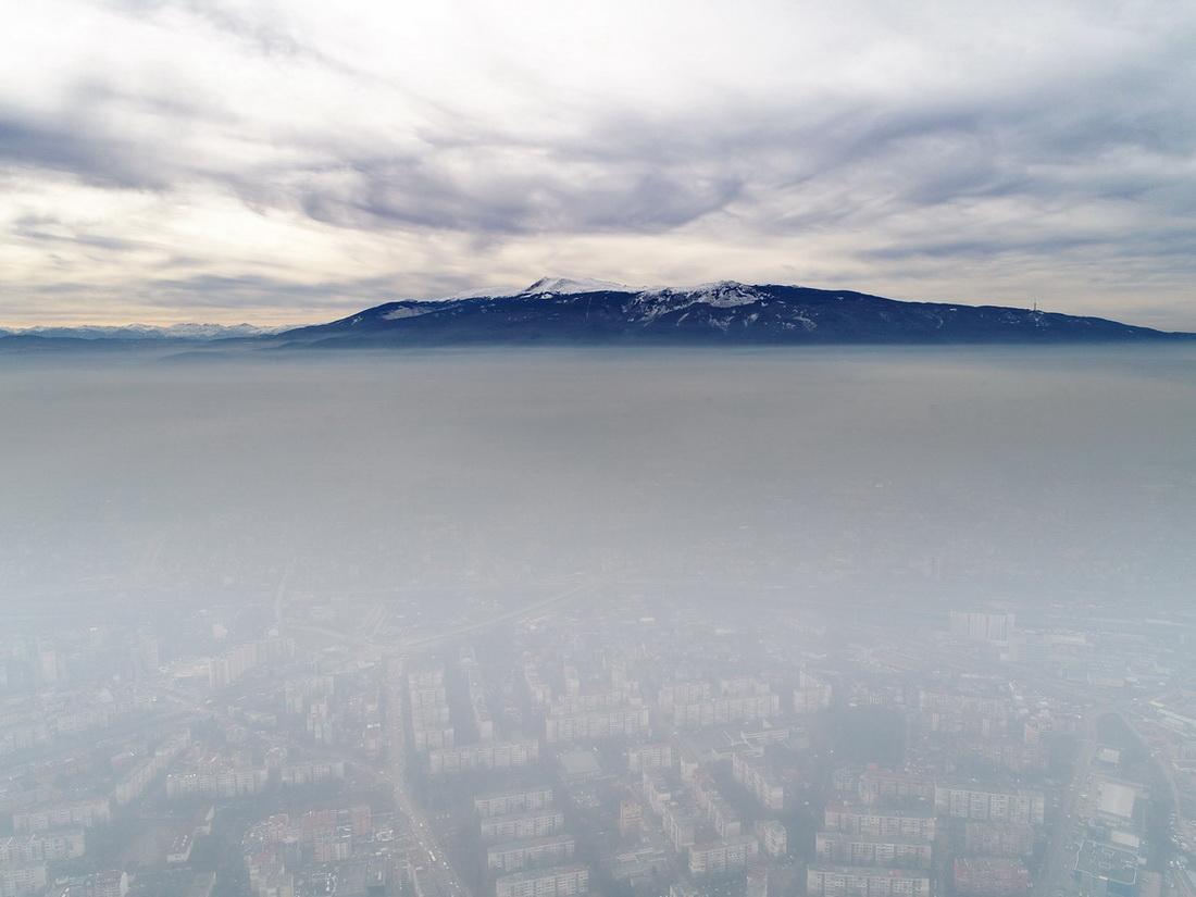 Мъгла и смог в София